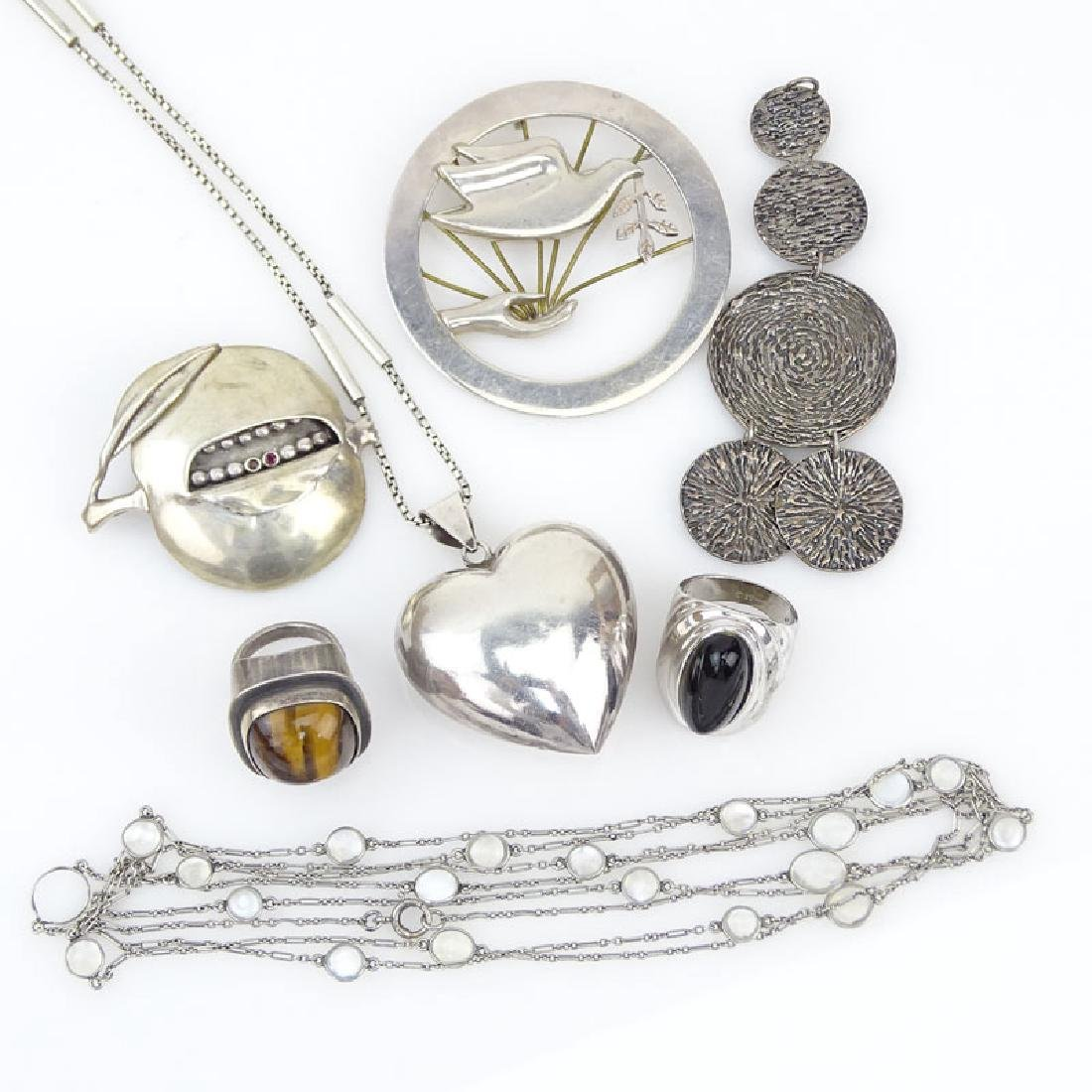 Seven (7) Piece Sterling Silver Jewelry Lot Including: