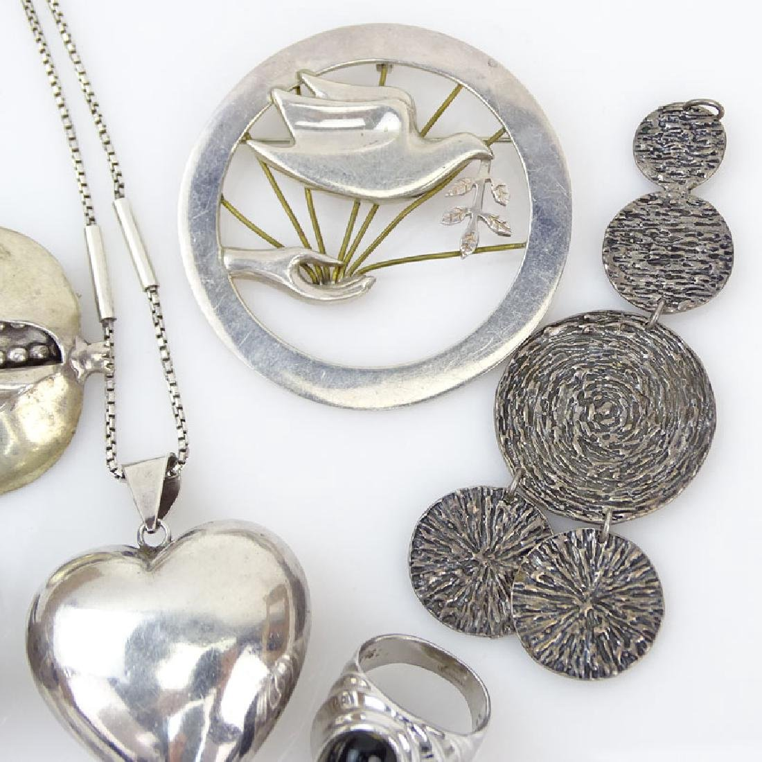 Seven (7) Piece Sterling Silver Jewelry Lot Including: - 3