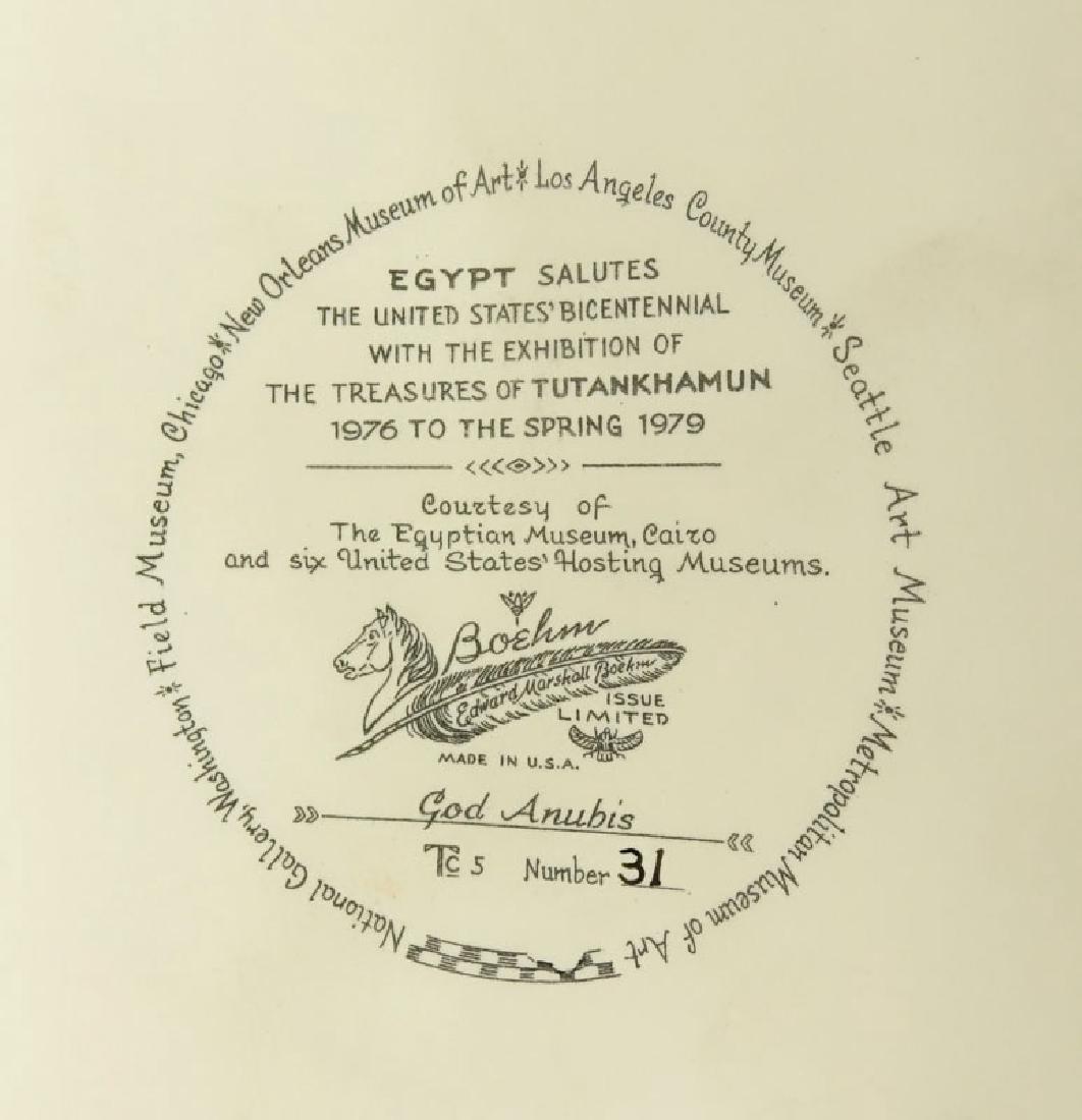 "Boehm Porcelain ""Egyptian God Anubis"" Limited Edition - 9"
