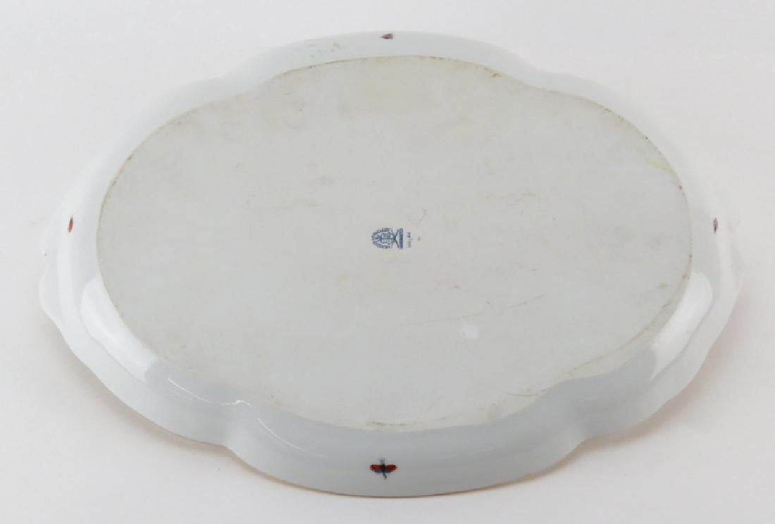 "Herend Porcelain ""Rothschild Birds"" Oval Ribbon Tray. - 2"
