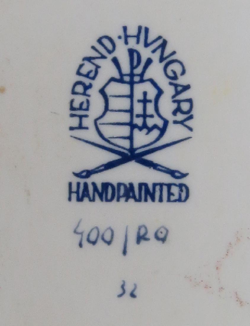 "Herend Porcelain ""Rothschild Birds"" Oval Ribbon Tray. - 3"
