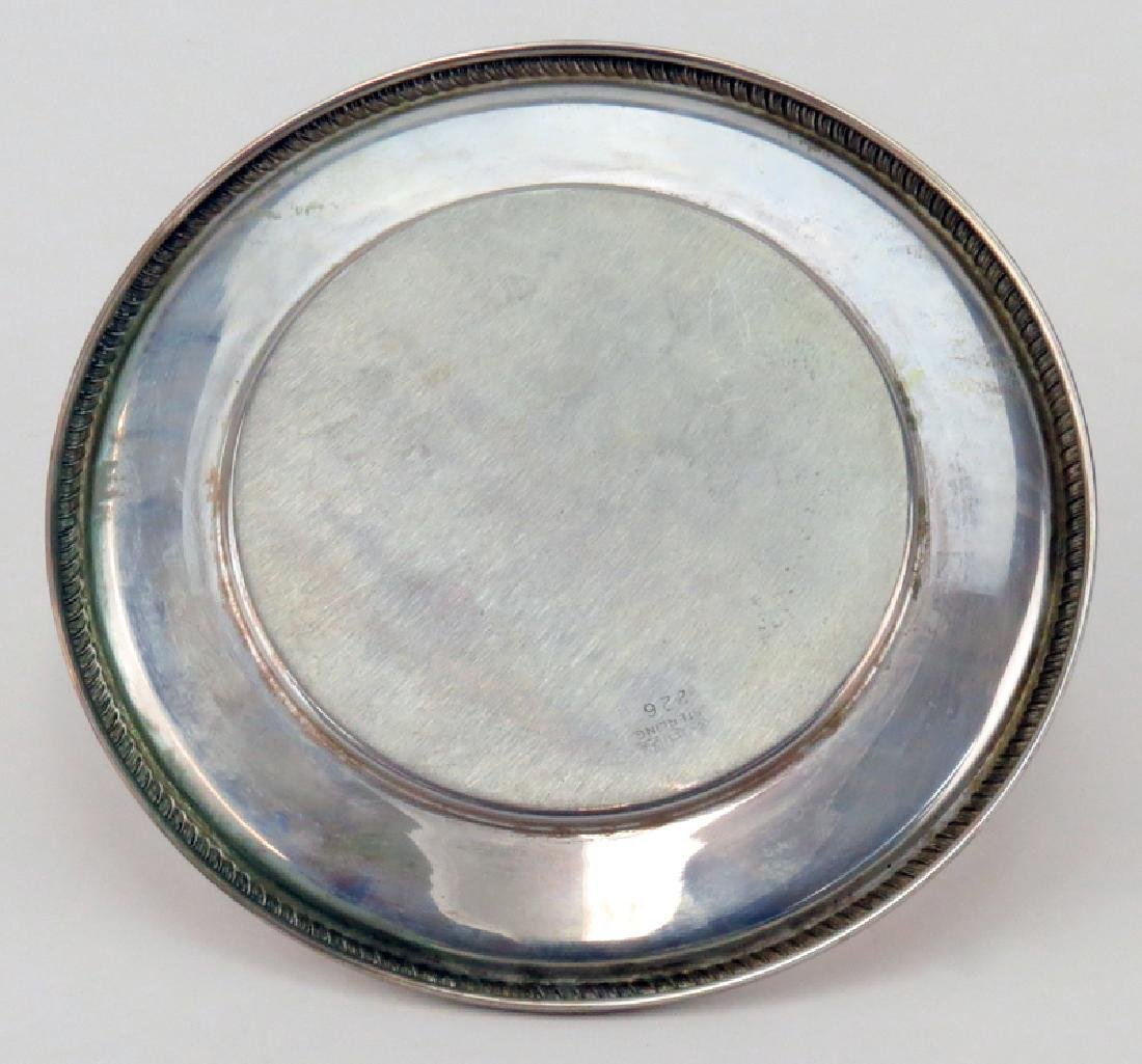 Set of Twelve (12) Sterling Silver Round Plates. - 3
