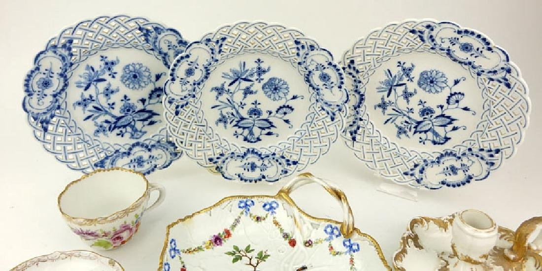Grouping of Seven (7) Antique Meissen Porcelain - 2