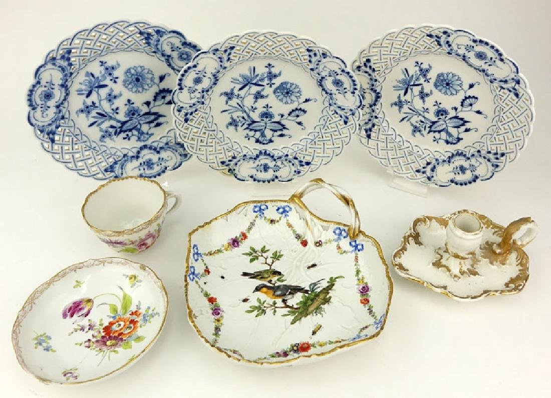 Grouping of Seven (7) Antique Meissen Porcelain - 3