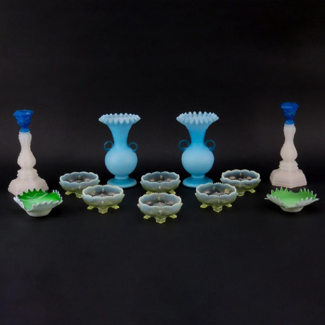 Assortment (12+ pieces) of Vintage American Glass