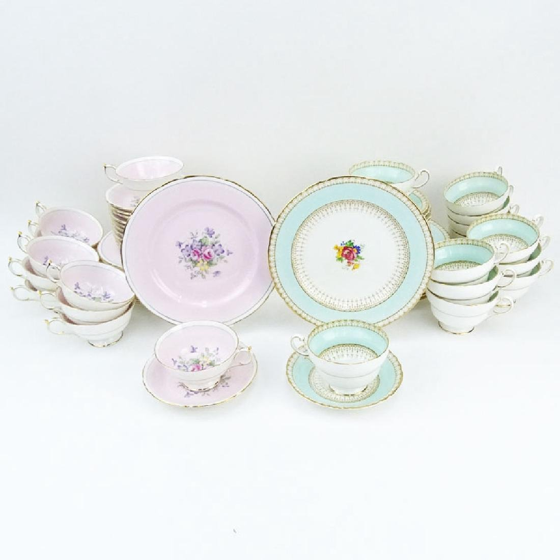 Two Partial Paragon Bone China Dessert Sets. The Pink