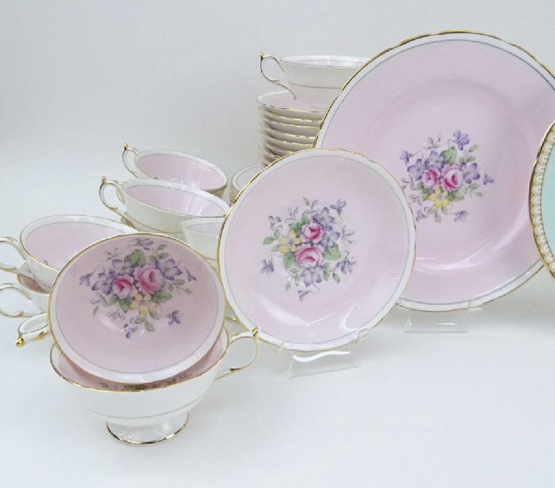 Two Partial Paragon Bone China Dessert Sets. The Pink - 2