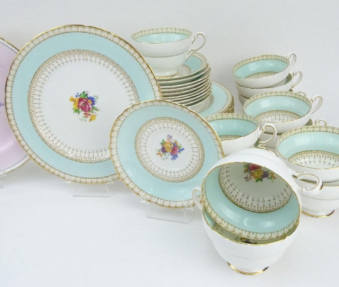 Two Partial Paragon Bone China Dessert Sets. The Pink - 3