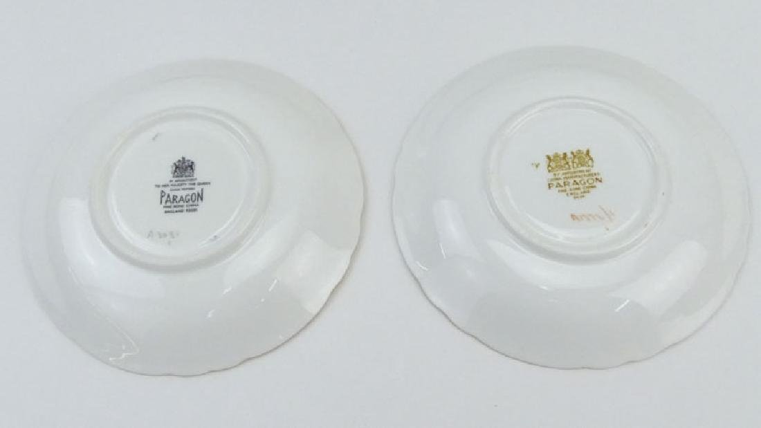 Two Partial Paragon Bone China Dessert Sets. The Pink - 4