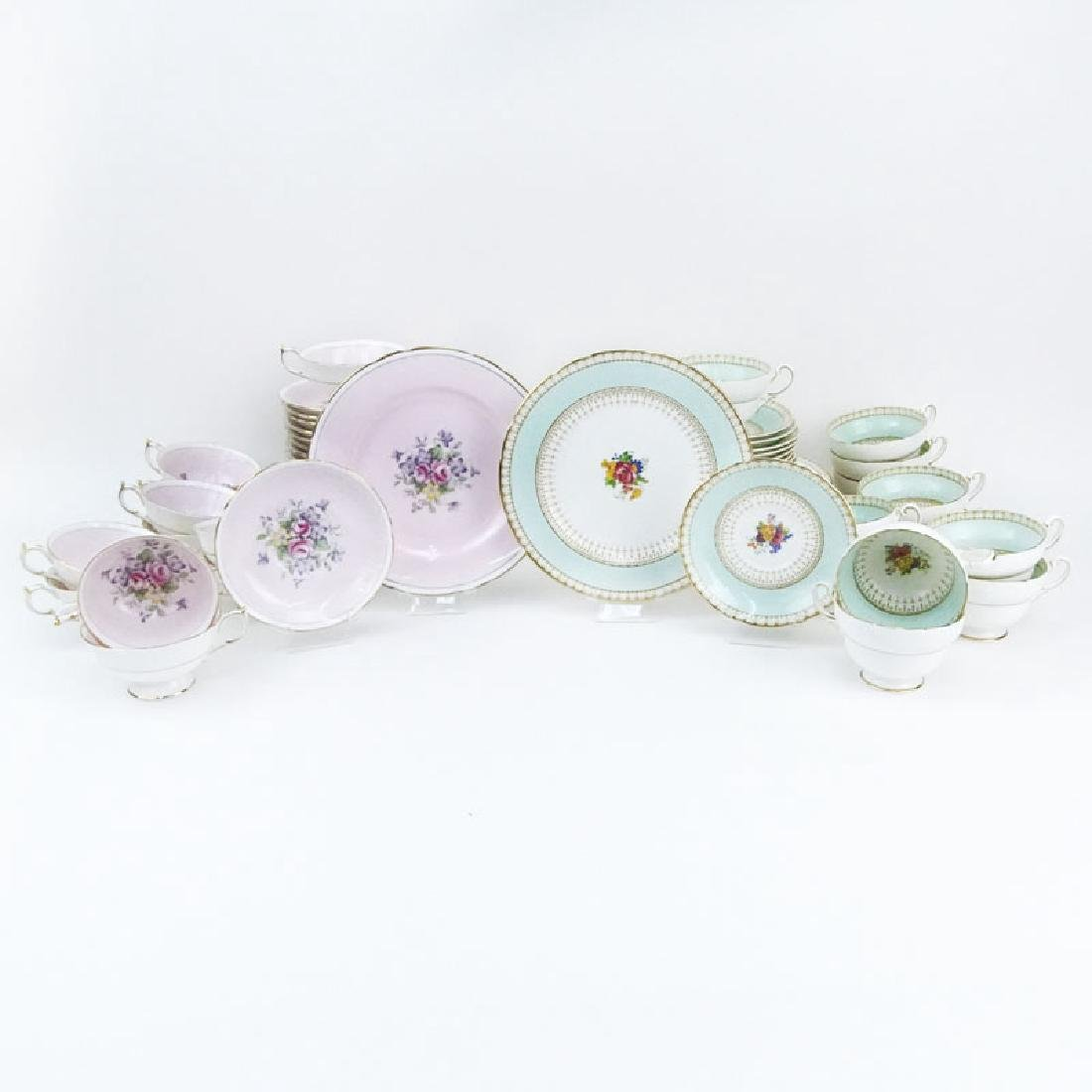 Two Partial Paragon Bone China Dessert Sets. The Pink - 7