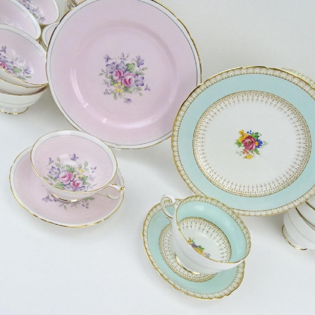 Two Partial Paragon Bone China Dessert Sets. The Pink - 8