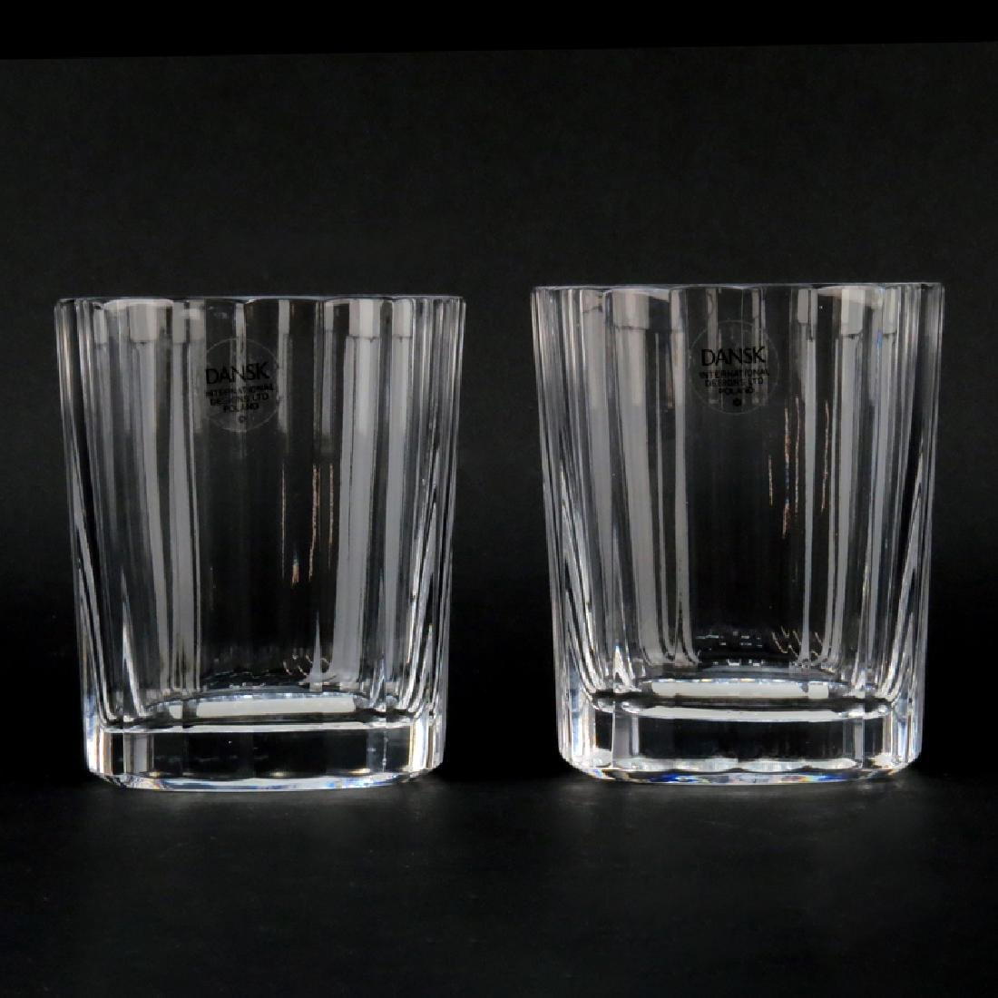 Eleven (11) Dansk Faceted Round Old Fashioned Glass