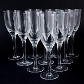"Ten (10) Lalique Crystal ""Ange"" Champagne Flutes."