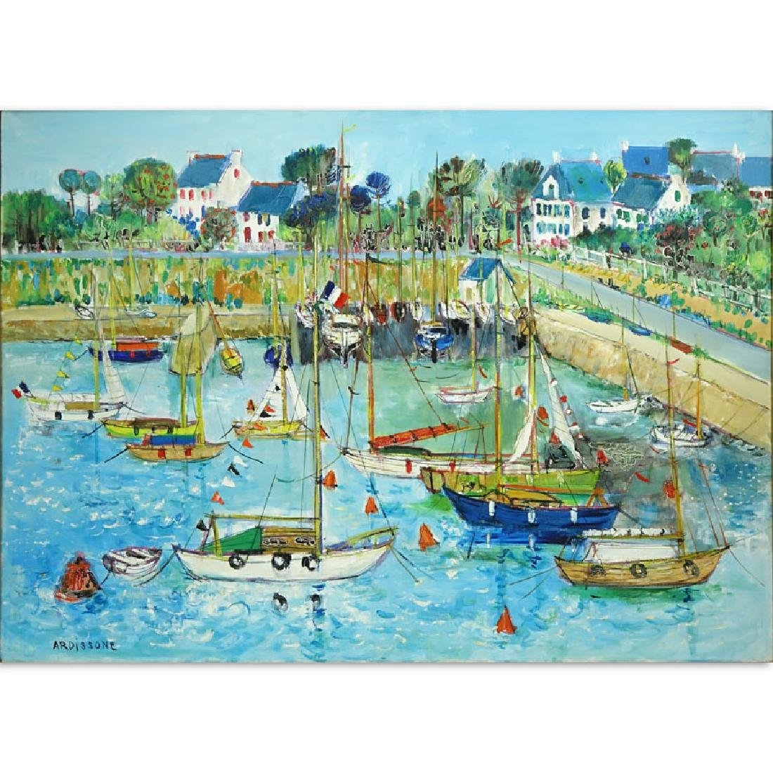 "Yolande Ardissone French (born1927- ) Oil on Canvas ""Le"