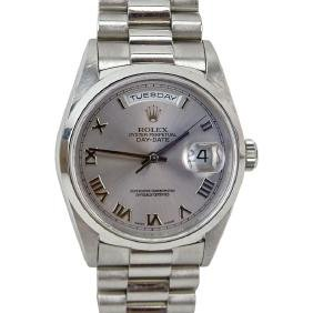Men's Platinum Rolex Oyster Perpetual Day-Date