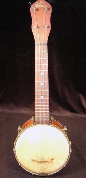 """15: Gibson UB-3/4 """"Baby Gibson"""" Banjo-Ukulele Pre-1930. - 6"""