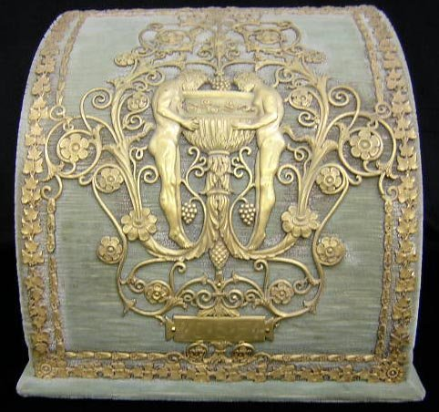 22: Unique Art Nouveau Letter Box Applied Bronze Relief
