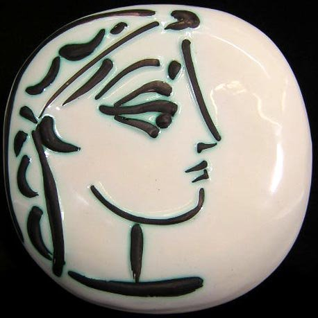 23: Pablo Picasso Spanish (1881-1973) Ceramic Madoura P