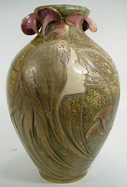 """220: Exceptional Art Nouveau Amphora Austria """"Maiden"""" V"""