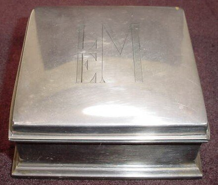 509: Gorham Sterling Silver Wood Lined Hinged Box Humid