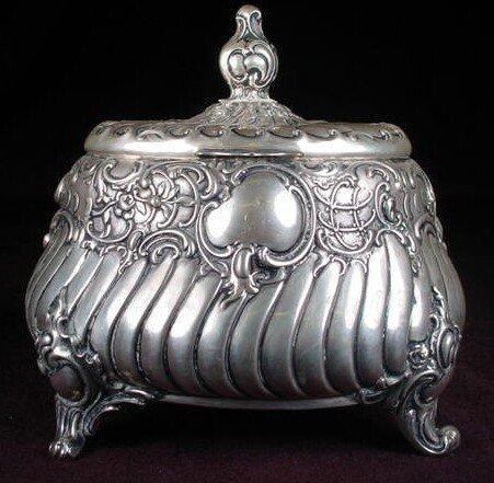 512: German Art Nouveau 0.800 Continental Silver Decora