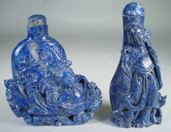 514: Collection of Three (3) Mid-20th Century Lapis Laz