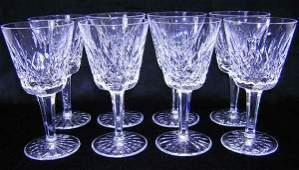742 Waterford Service for Eight 8 Wine Glasses Cryst