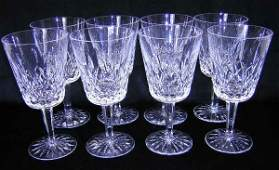 743 Waterford Service for Eight 8 Water Goblets Crys
