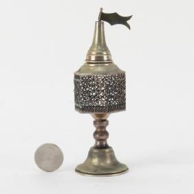 Antique Judaica Silver Filigree Spice Box. Unsigned.