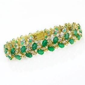 Vintage Approx. 20.0 Carat Oval Cut Emerald, 3.50 Carat