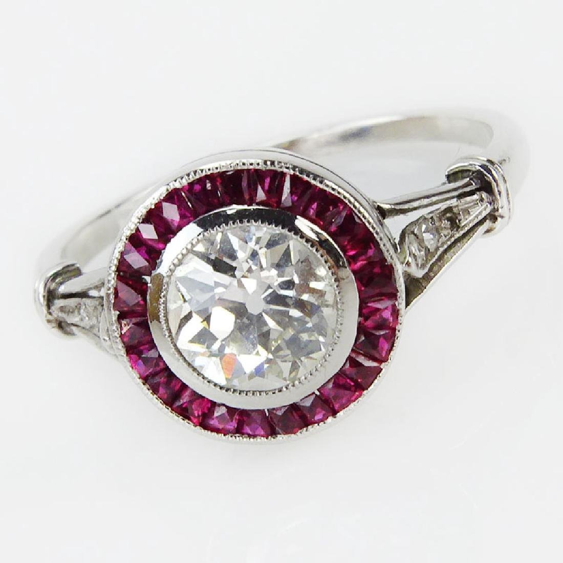Art Deco Approx. .85 Carat Old European Cut Diamond and