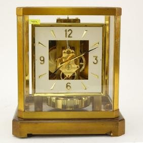 Jaeger LeCoultre Atmos Mantle Clock. Brass and glass