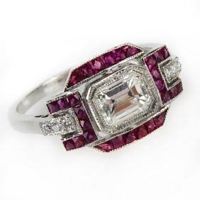 Art Deco Style Approx. .73 Carat TW Diamond, 1.13 Carat