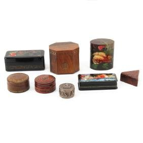 Collection of Eight (8) Vintage Boxes Including Two (2)