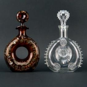 Grouping of Two (2) Crystal Decanters. Includes:
