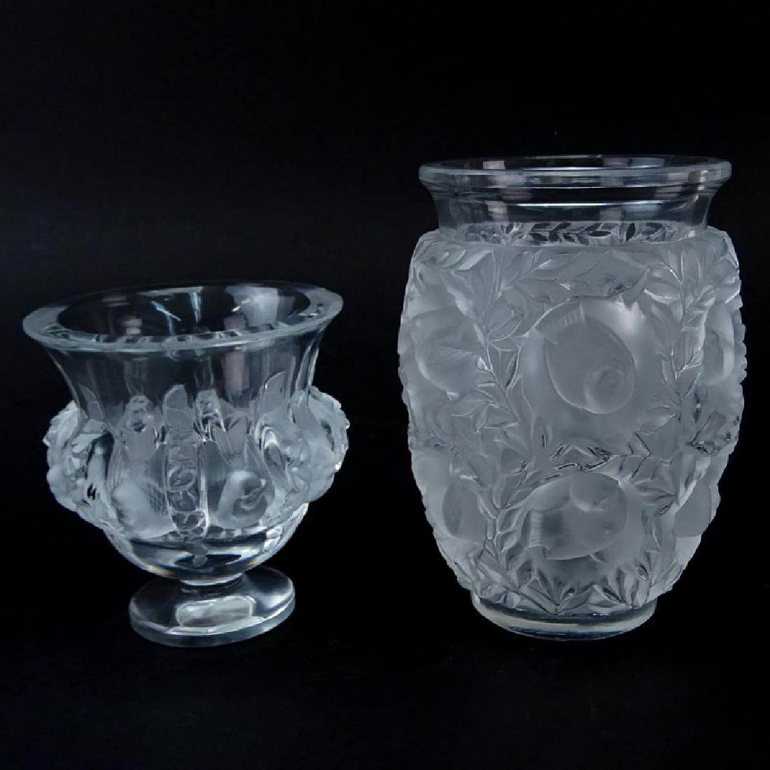 """Two (2) Lalique Crystal Vases. Includes """"Dampierre""""."""