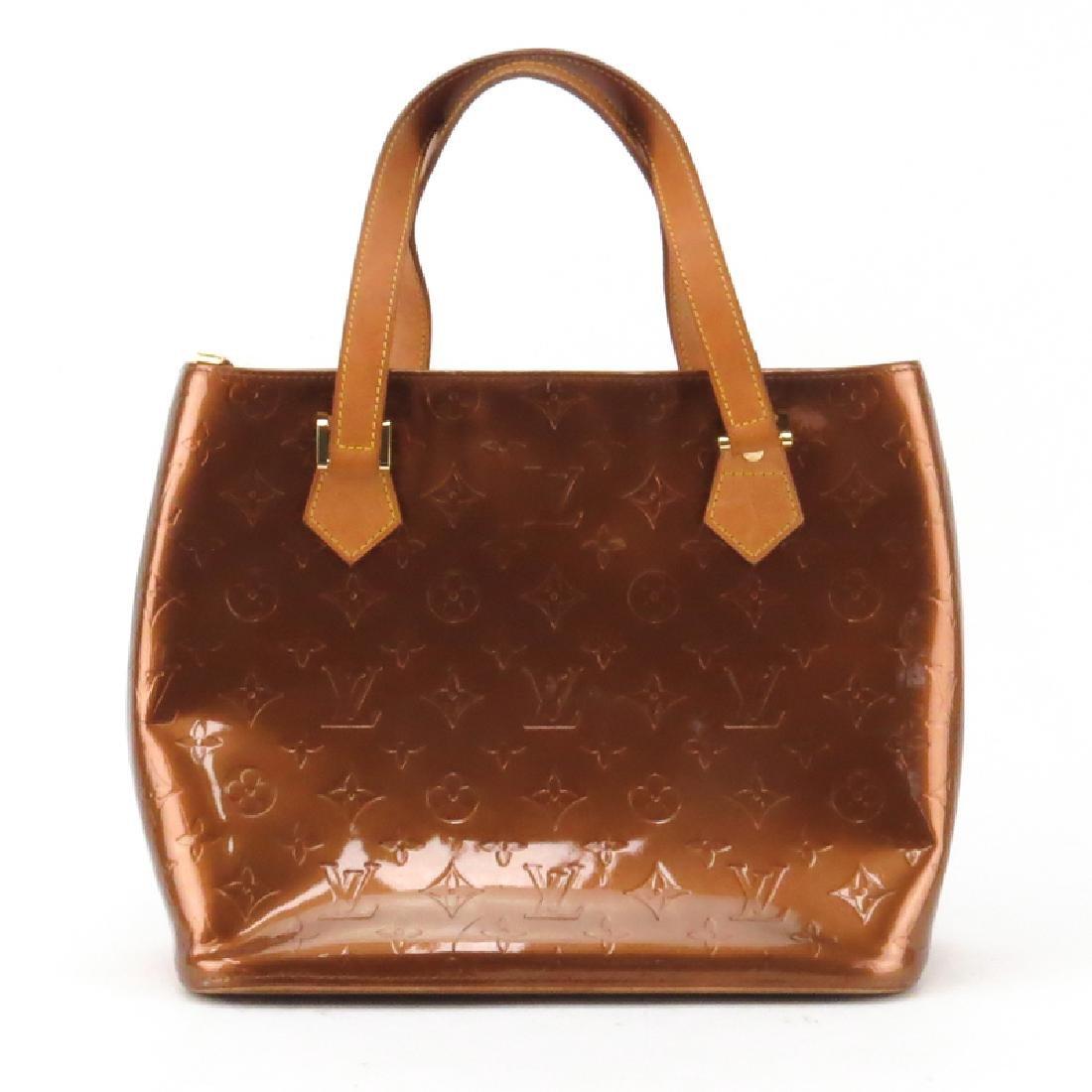 Louis Vuitton Vernis Houston Bag. Copper monogram