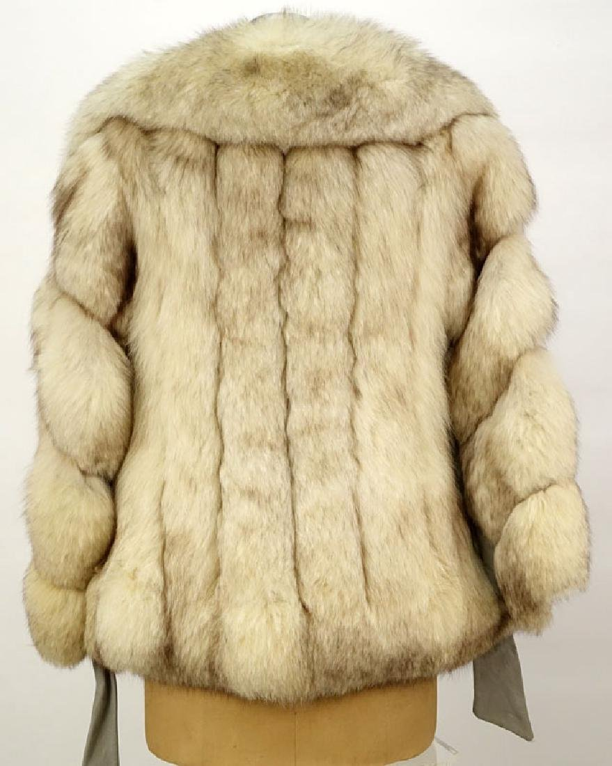 Lady's Vintage Fox Jacket with Leather Trim. Unsigned. - 3