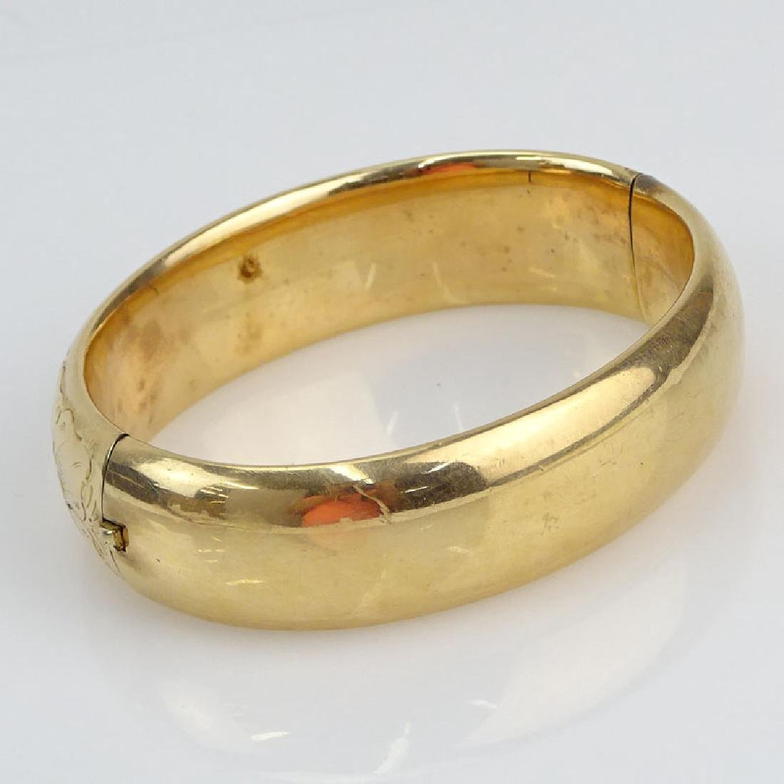 Antique 10 Karat Yellow Gold and Gold Filled Bangle - 2
