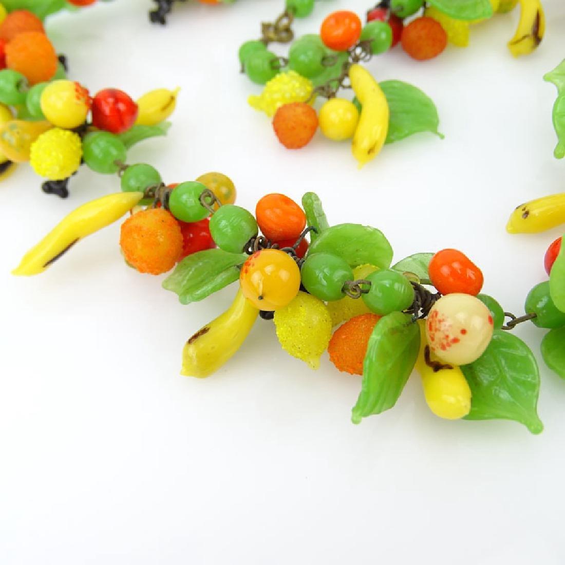 Vintage Hand-blown Glass Fruit Salad Necklace. - 2