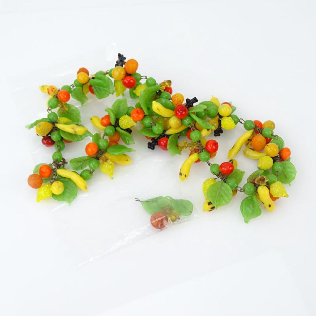 Vintage Hand-blown Glass Fruit Salad Necklace. - 4