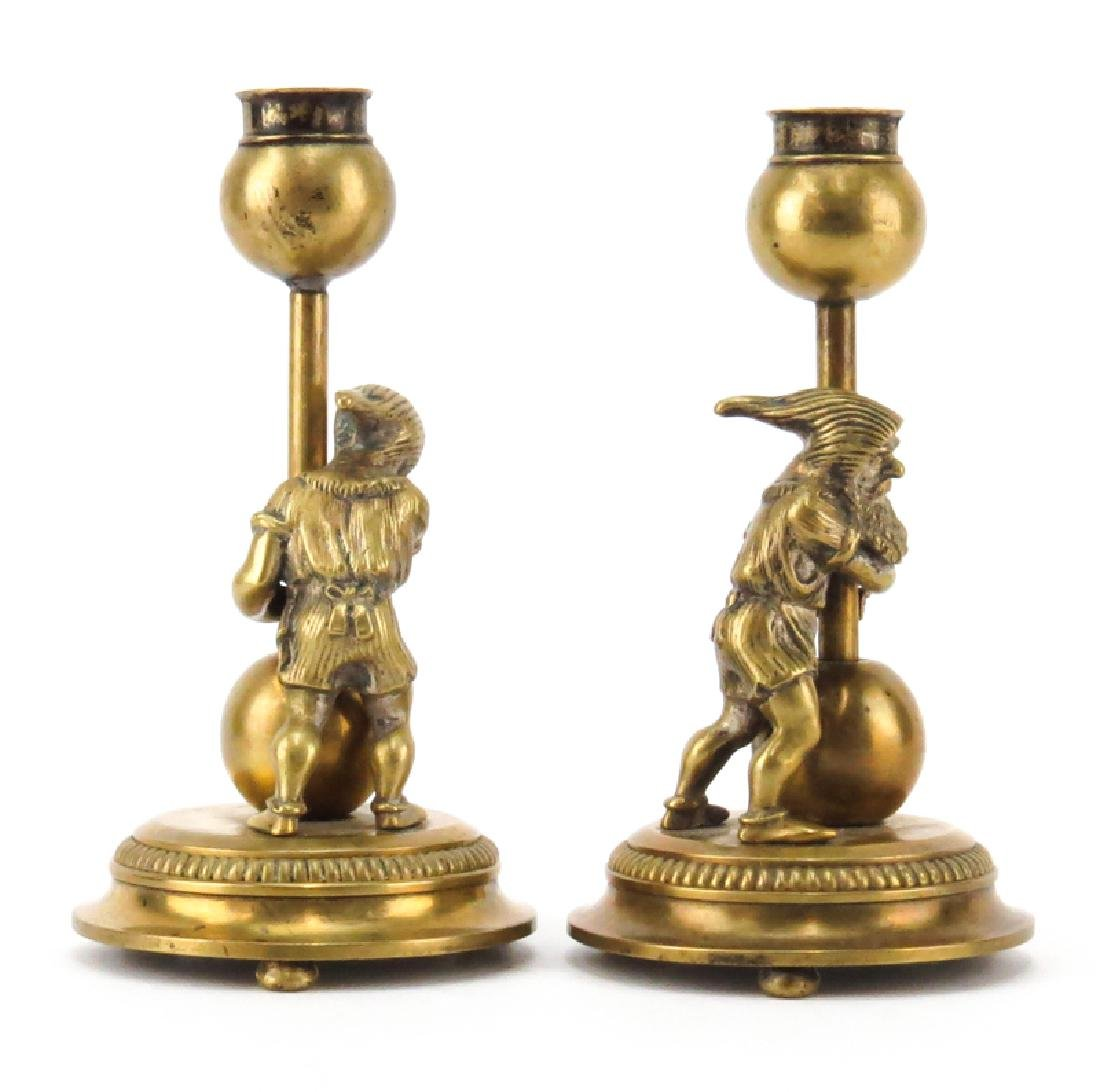 Pair of Early 20th Century Gnome Figural Bronze - 2
