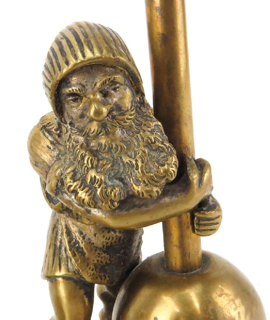 Pair of Early 20th Century Gnome Figural Bronze - 3