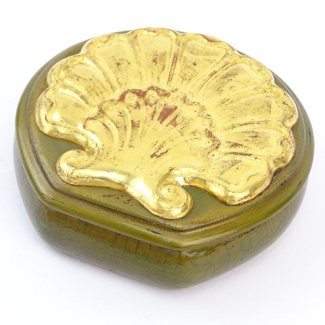 """Russian """"Erotica"""" Lacquered Box. Shell motif cover. As - 2"""