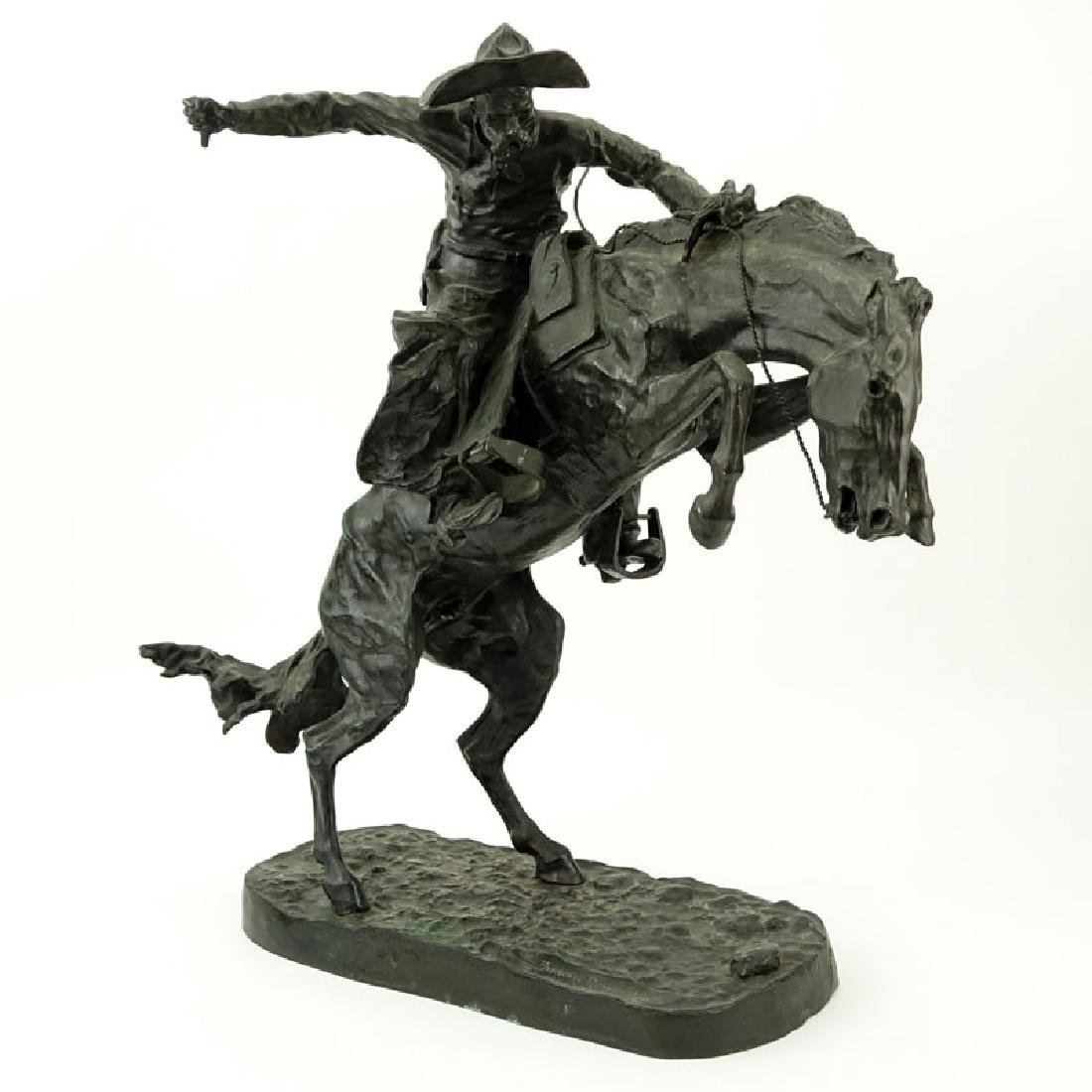After: Frederic Remington, American (1861-1909) Bronze