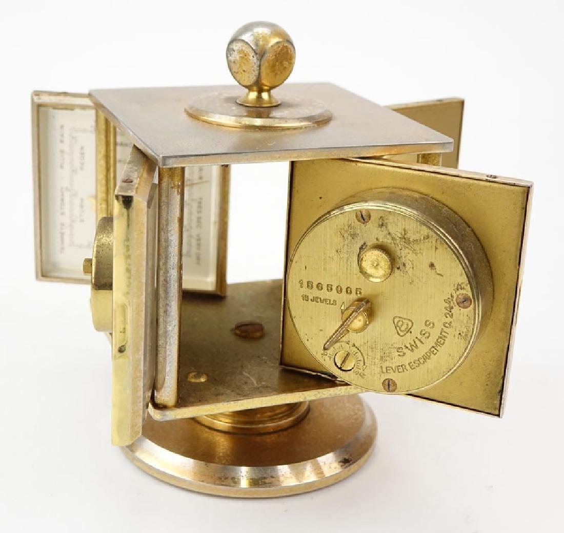 Vintage Bucherer Imhof 4 Sided Art Deco Table Clock. - 2