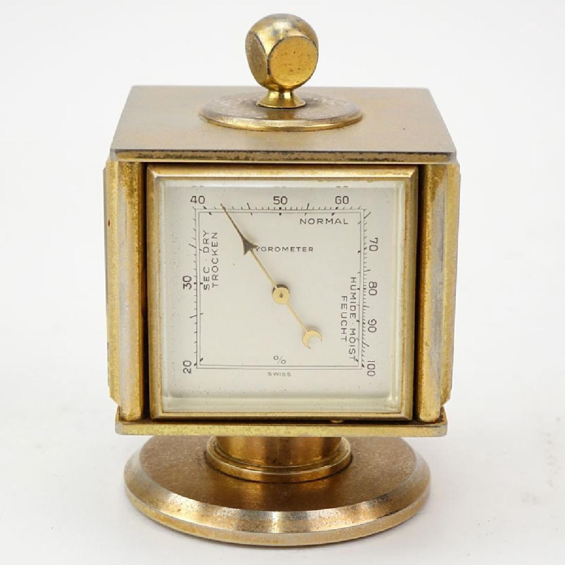 Vintage Bucherer Imhof 4 Sided Art Deco Table Clock. - 5