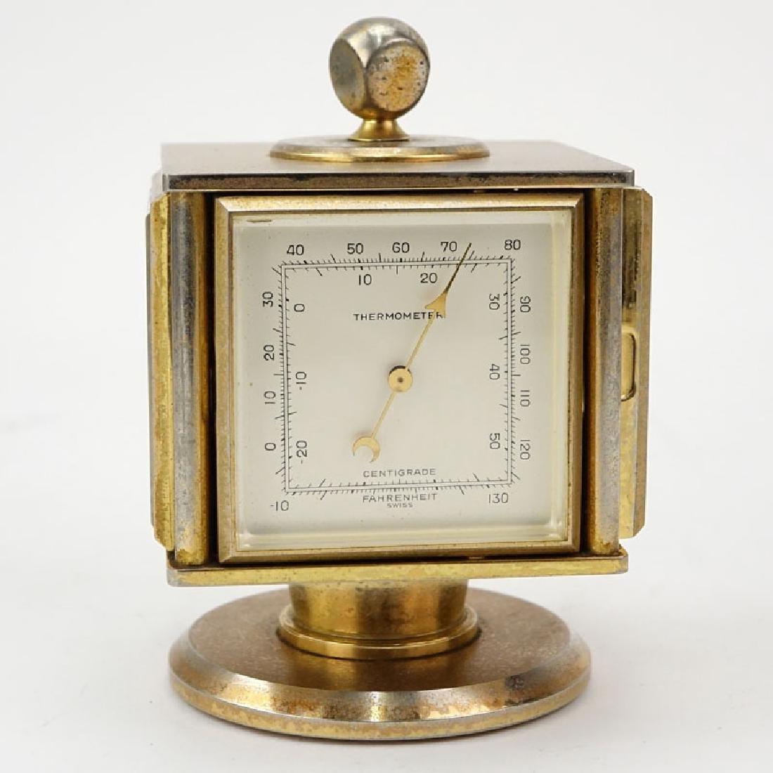 Vintage Bucherer Imhof 4 Sided Art Deco Table Clock. - 6