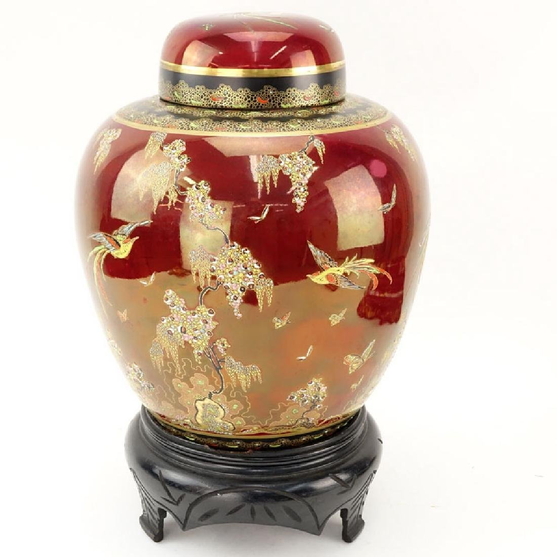 Carlton Ware Oriental Style Rouge Royale Luster Ginger
