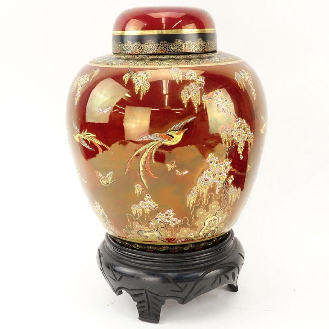 Carlton Ware Oriental Style Rouge Royale Luster Ginger - 3